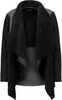 Splendid Paneled faux shearling, chambray and jersey jacket