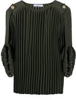 Blumarine pleated knit top