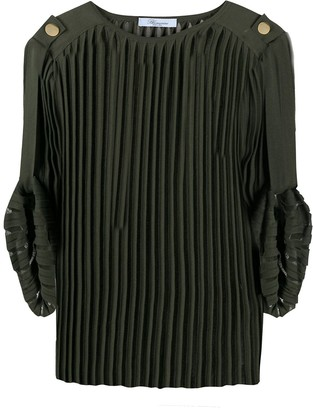 Blumarine Pleated Knit Top