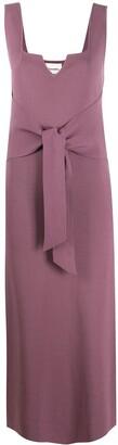 Nanushka Melon tie-front knitted dress