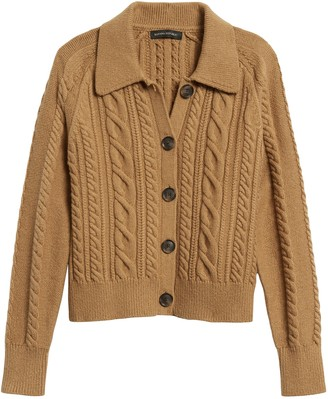 Banana Republic Petite Heritage Cable-Knit Cardigan Sweater