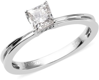 Shop Lc White Gold Diamond Solitaire Ring Size 6 Ct 0.5 H Color I3 Clarity