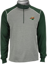 Antigua Men's Minnesota Wild Breakdown Quarter-Zip Pullover