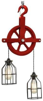 West Ninth Vintage Red Barn Pulley Light