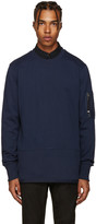 Diesel Black Gold Blue Ribbed Pullover