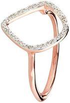 Monica Vinader Riva18kt Rose Gold Plated Diamond Ring