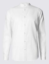 Limited Edition Long Sleeve Textured Grandad Collar Shirt