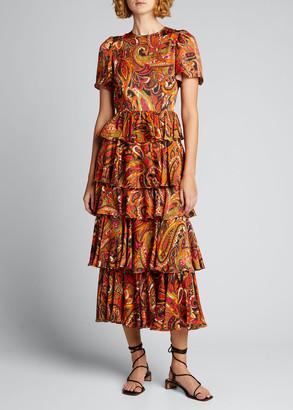 Rhode Resort Serena Tiered Ruffle Dress