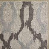west elm Ikat Links Wool Rug - Frost Gray