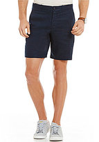 Original Penguin Slim-Fit Flat-Front Washed Linen Shorts
