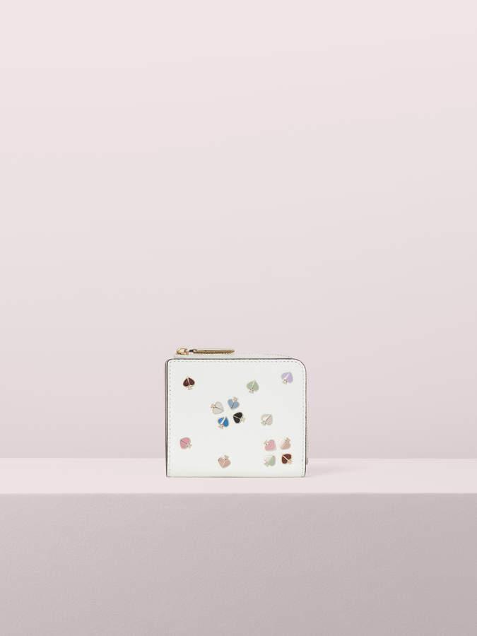 Kate Spade margaux enamel spade small bifold wallet