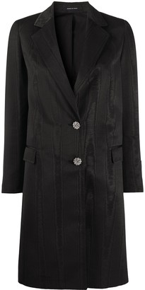 Tagliatore Crystal Buttoned Fitted Coat