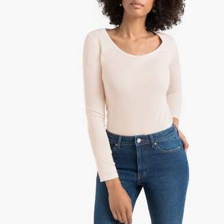 La Redoute Collections Cotton T-Shirt with Long Sleeves