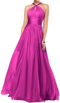 Gorgeous Bridal Chic Cross Straps A-line Chiffon Long Gown Formal Gown - US