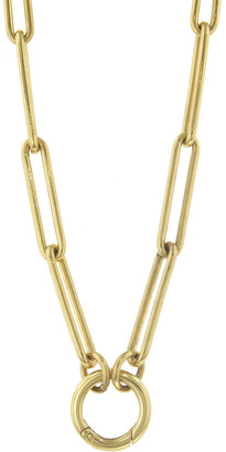 Foundrae Chubby Annex Link With Open Extended Clip Chain Necklace - Yellow Gold