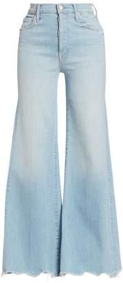 Mother The Tomcat High-Rise Wide-Leg Fray Hem Jeans
