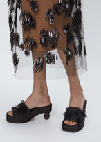 Dries Van Noten black heel beaded slide