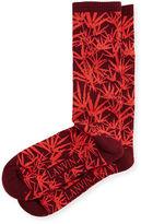 Lanvin Jungle Leaf Wool Jacquard Socks