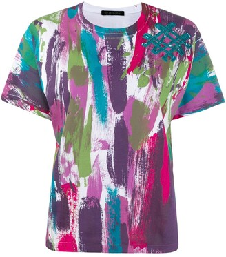 Mr & Mrs Italy abstract print T-shirt