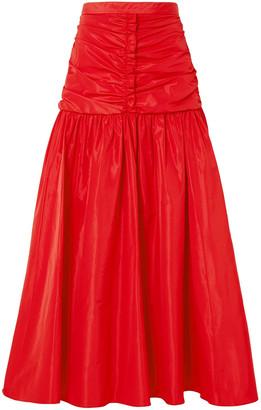 Stella McCartney Ruched Taffeta Maxi Skirt