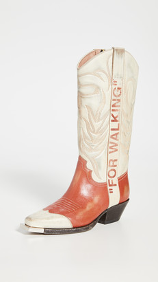Off-White Vintage Cowboy Boots