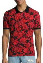 MSGM Floral Printed Polo