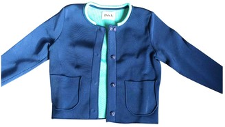 Issa Blue Cotton Jacket for Women