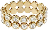 Kenneth Cole NEW YORK Gold-Tone & Crystal Stretch Bracelet