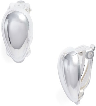 Argentovivo Sterling Silver Teardrop Clip-On Earrings
