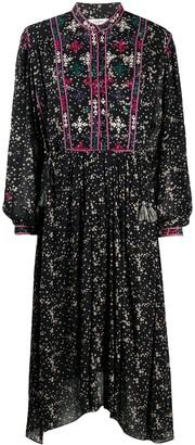 Etoile Isabel Marant Embroidered Shirt Dress