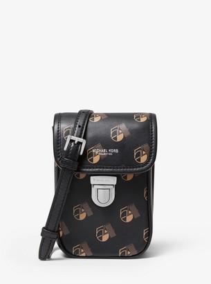 Michael Kors Kennedy Studio 54 Calf Leather Phone Crossbody Bag
