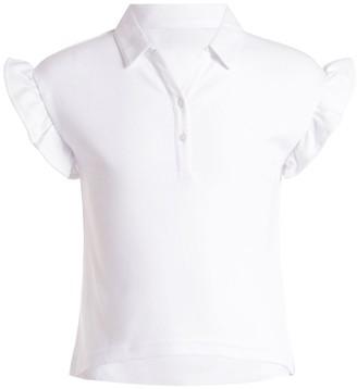 Chaps Girls' 7-16 Ruffle Sleeve Polo