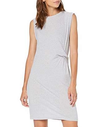 Bench Women's's Draped Knot Jersey Dress Summer Grey Marl, (Size:Medium)
