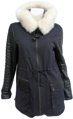 French Connection Blue Cotton Coat for Women