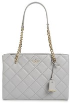 Kate Spade 'Emerson Place - Small Phoebe' Quilted Leather Shoulder Bag - Grey