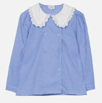 Thumbnail for your product : Margaux Collar Detail Checked Blouse - 12