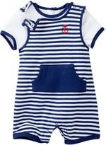 Little Me Anchor Shortall Shirt & Romper Set (Baby Boys)