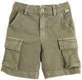 Il Gufo Cotton & Linen Blend Cargo Shorts