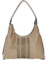 Oryany Pebble Leather Hobo Bag w/Braided Detail- Alli