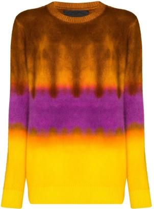 The Elder Statesman Gradient-Dyed Cashmere Sweater