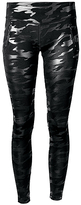 Therapy Black & Silver Camo Side-Vent Active Leggings - Plus Too
