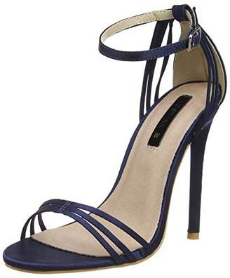 Lost Ink Women's Faye Barely There (Wide Fit) Open Toe Heels, Blue (Navy 0041), 5 UK 38 EU