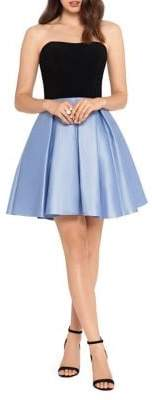 Blondie Nites Strapless Fit-&-Flare Dress