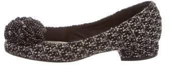 Chanel Camellia Tweed Flats