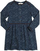 Nice Things Stars Print Peached Viscose Twill Dress