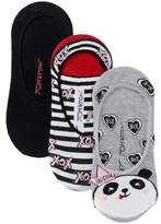 Betsey Johnson Panda Footie Socks - Pack of 3