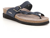 Mephisto Helen Twist Braided Leather Buckle Detail Slip-On Sandals