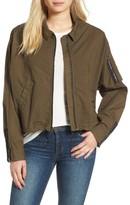 James Perse Women's Dolman Sleeve Bomber Jacket