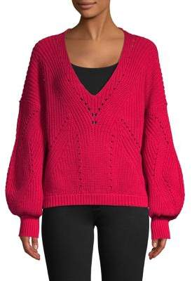 Free People All Day Puff-Sleeve Knit Pullover