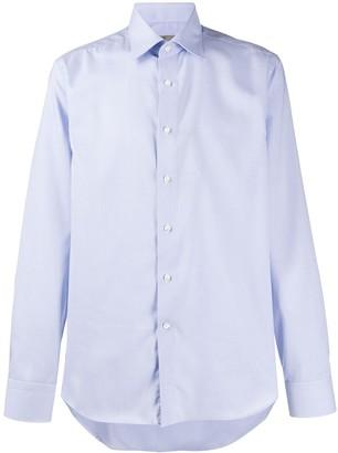Canali Long Sleeved Cotton Shirt
